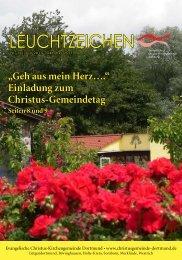 Leuchtzeichen Nr 12. vom Juli 2011 - Evangelische Christus ...