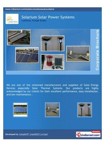 Contact Details Solarium Solar Power Systems
