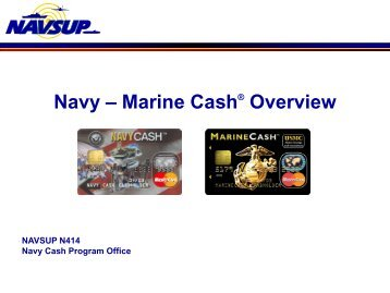 Navy – Marine Cash Overview - Financial Management Service