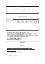 INDEX TO INFORMATION NOTES INDEX DES NOTES D ...