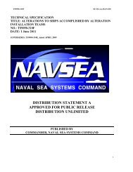 Alterations to Ships Accomplished by AITs - Navsea - The US Navy