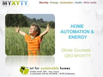 HOME AUTOMATION & ENERGY - ICT for sustainable homes