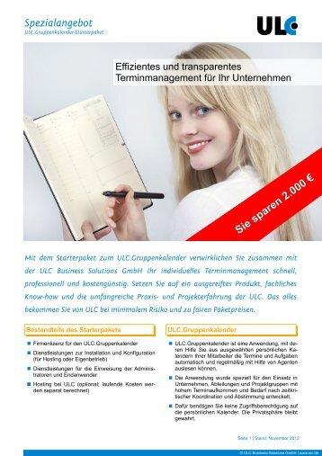 Spezialangebot - ULC Business Solutions GmbH
