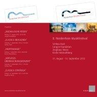 KONZERTE in ST. HELENA - Niederrhein-Musikfestival
