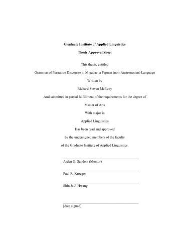 Applied linguistics phd thesis