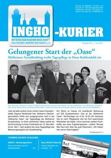 "Gelungener Start der ""Oase"" - Ingho"