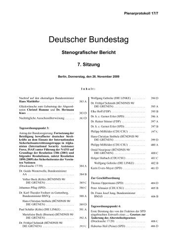 Stenografischer Bericht 7. Sitzung - Aktion Bleiberecht