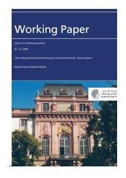 Working Paper - Institut für Politikwissenschaft - Technische ...
