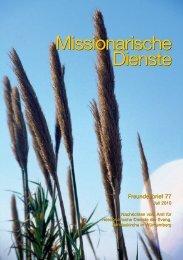monatsspruch juli 2010 - Missionarische Dienste