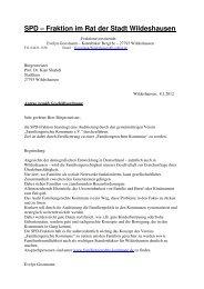 Fraktion im Rat der Stadt Wildeshausen - SPD-Ortsverein ...