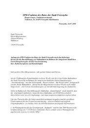 SPD-Fraktion des Rates der Stadt Friesoythe - SPD-Ortsverein ...