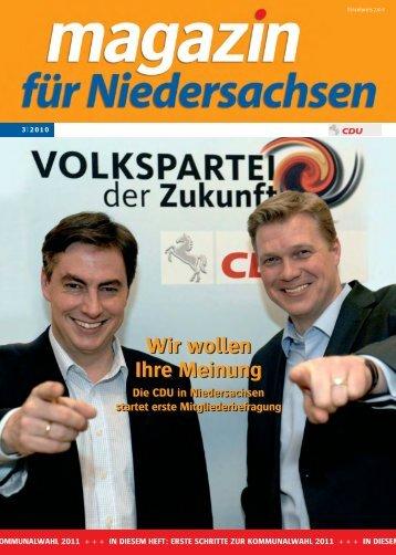 Wir wollen Ihre Meinung - CDU Stadtverband Gehrden