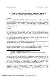 Protokoll 8. Sitzung Arbeitskreis