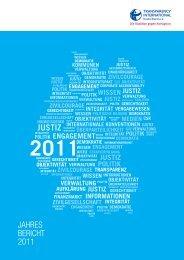 Jahresbericht 2011 - Transparency International