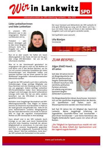 Ausgabe 6 - Mai 2012 - SPD Lankwitz