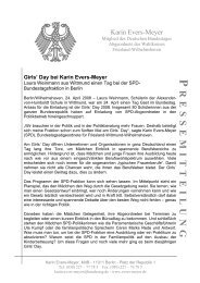 P RESSEMITTEILUNG Girls' Day bei Karin Evers-Meyer