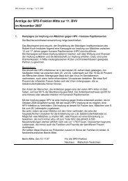 BVV-Unterlagen im November 2007 - SPD-Fraktion Berlin-Mitte