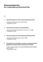 Ehrenamtsbericht der Landesregierung Rheinland-Pfalz - beim ...