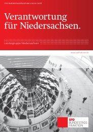 Broschüre der SPD-Landesgruppe Niedersachsen in - Dr. Matthias ...