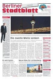 Die zweite Miete senken - Berliner Stadtblatt