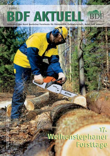 Ausgabe 01/2007 - Bund Deutscher Forstleute (BDF)