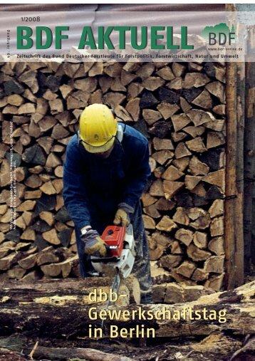 bdf aktuell - Bund Deutscher Forstleute (BDF)