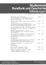 panorama - Studienkreis Rundfunk und Geschichte