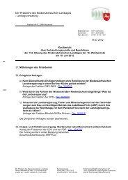 143. Sitzung am 19. Juli 2012 - Niedersächsischer Landtag