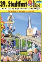 Download Sonderausgabe 2011 - Leichlinger Stadtfest
