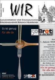WIR Feb. - März 2009 - Evangelische Kirchengemeinde Bergisch ...