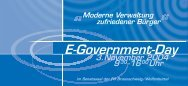 3.November 2004 9 -16 Uhr 30 00 E-Government-Day Moderne ...