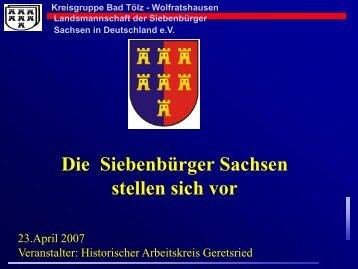 Wolfratshausen Landsmannschaft der ... - Siebenbuerger.de