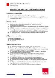 Satzung für den SPD – Ortsverein Heere