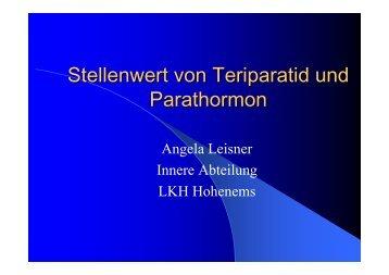 Leisner stellenwert von Teriparatid und Parathormon