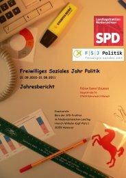 Freiwilliges Soziales Jahr Politik Jahresbericht - SPD-Fraktion im ...
