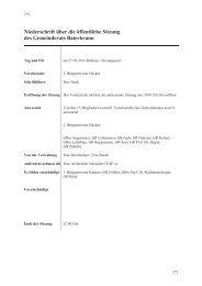 Niederschrift über die öffentliche Sitzung des Gemeinderats ...