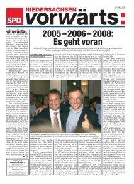 2005–2006–2008: Es geht voran - SPD Niedersachsen