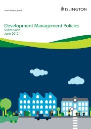Development Management Policies Submission - Islington Council