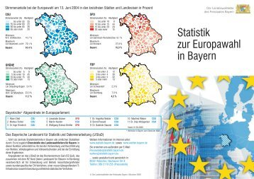 Statistik zur Europawahl in Bayern - Wahlen - Bayern