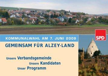 GEMEINSAM FÜR ALZEY-LAND - SPD Alzey-Land