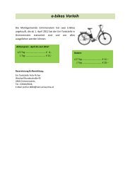 e-bikes Verleih - Grimmenstein