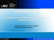 Fehlende Werte - Institut für Statistik - Ludwig-Maximilians ...