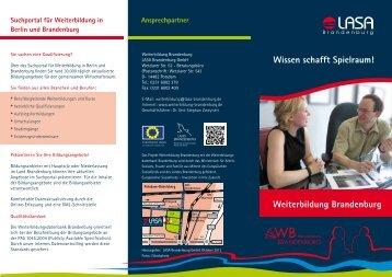 Wissen schafft Spielraum! Weiterbildung Brandenburg