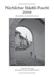 Städtli-Poscht 2009 [PDF, 2.00 MB] - Gemeinde Neunkirch