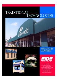 Awning / Canopy Brochure - Eide Industries, Inc.