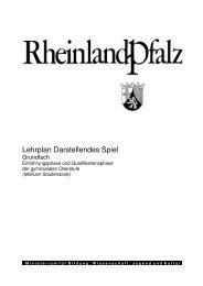 Lehrplan Darstellendes Spiel - Gymnasien in Rheinland-Pfalz