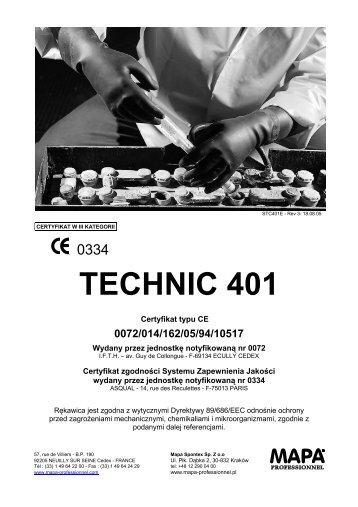 technic 401 zalety