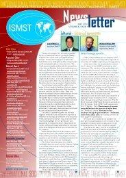 ISMST Newsletter Volumn 6, Issue 1 - Shockwave Therapy