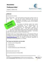 Newsletter FluResearchNet - Westfälische Wilhelms-Universität ...
