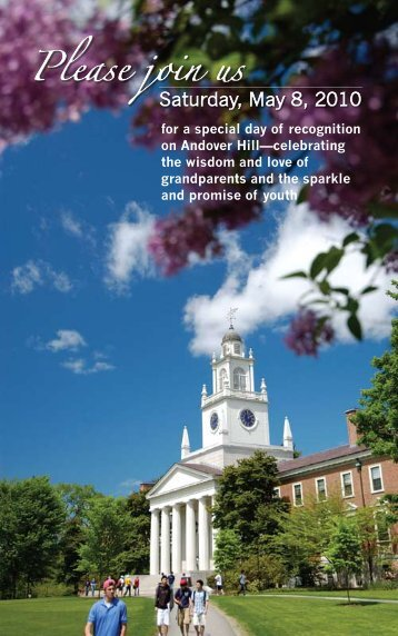 Please join us - Phillips Academy Andover